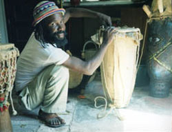 Bonga making drum
